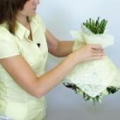 Фетр-сизаль. Прекрасный материал для упаковки букета цветов.