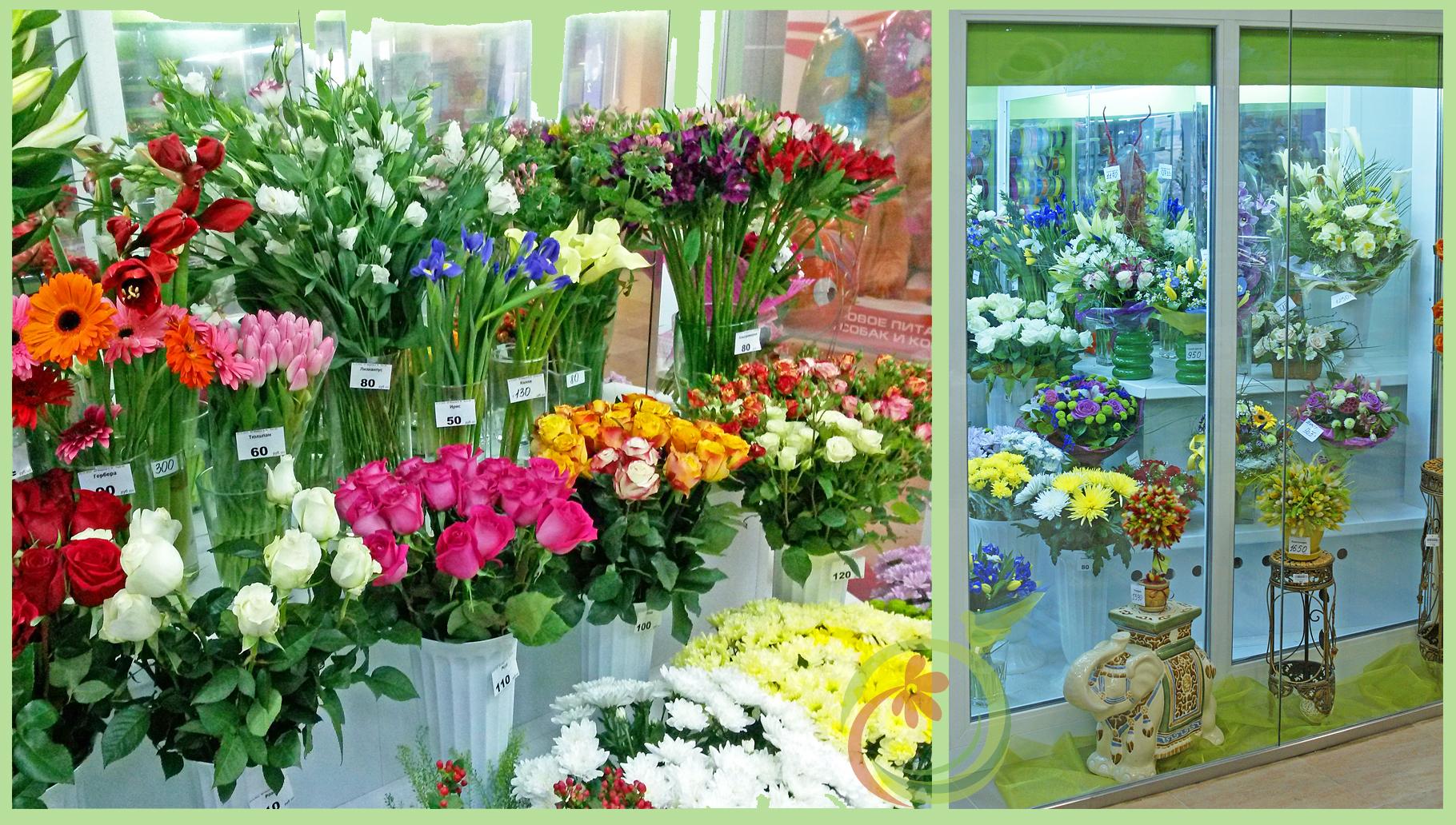 Полки готовы. Можно выставлять цветы и букеты!